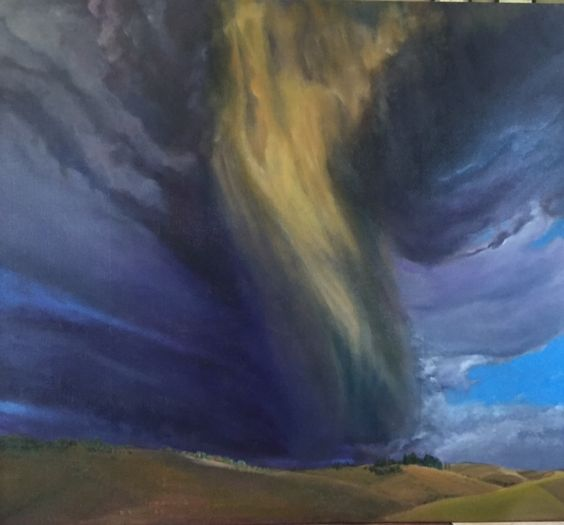 Summer Storm 4 Over the Front Oil on canvas